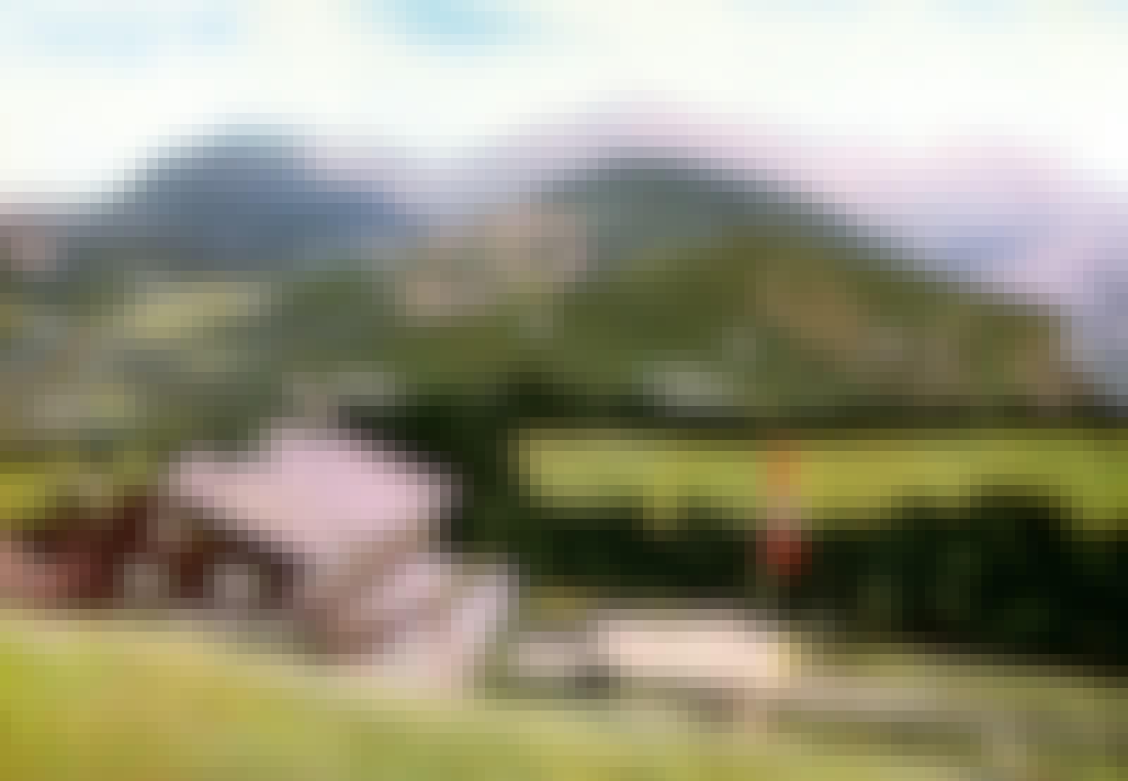 Berghof vuorimaisemassa