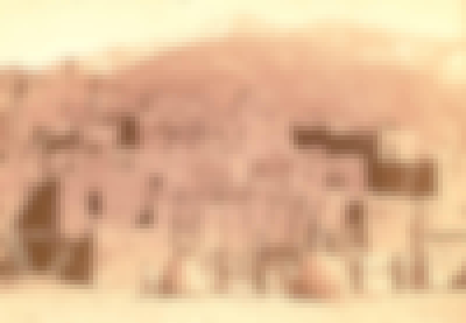 Hopiernes huse, Indianerne boede i højhuse, holdt får og skød hvaler