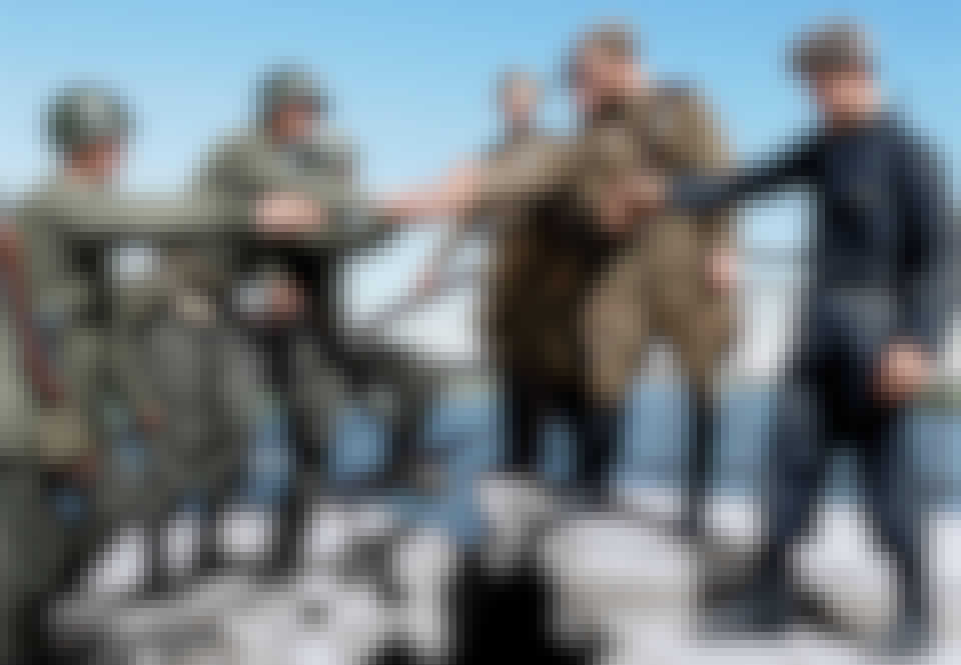 us soldiers red army meet at thorgau