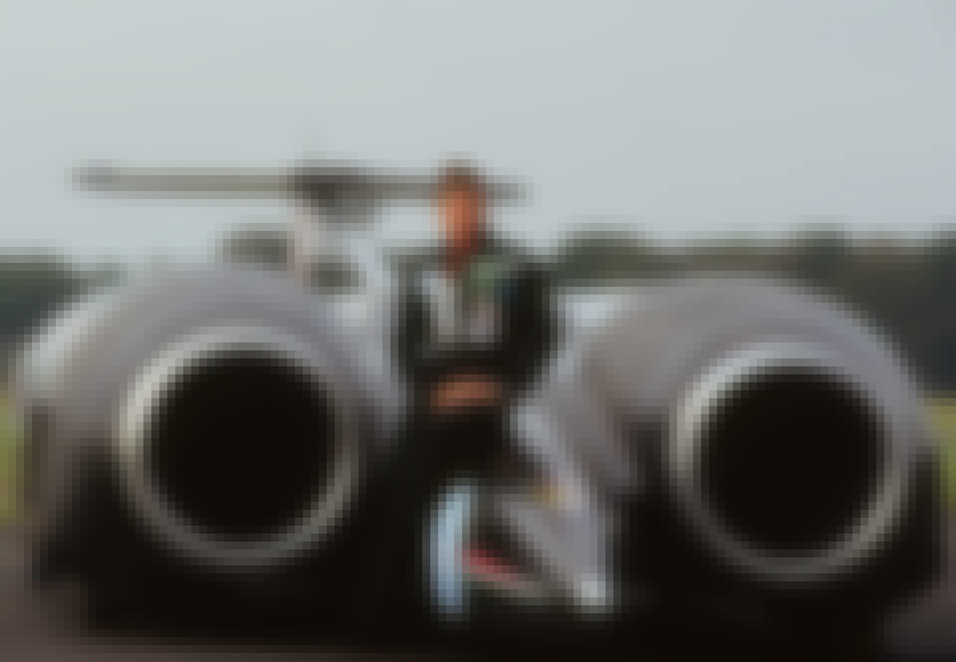 Thrust SSC with pilot Andy Green Landspeed record holder