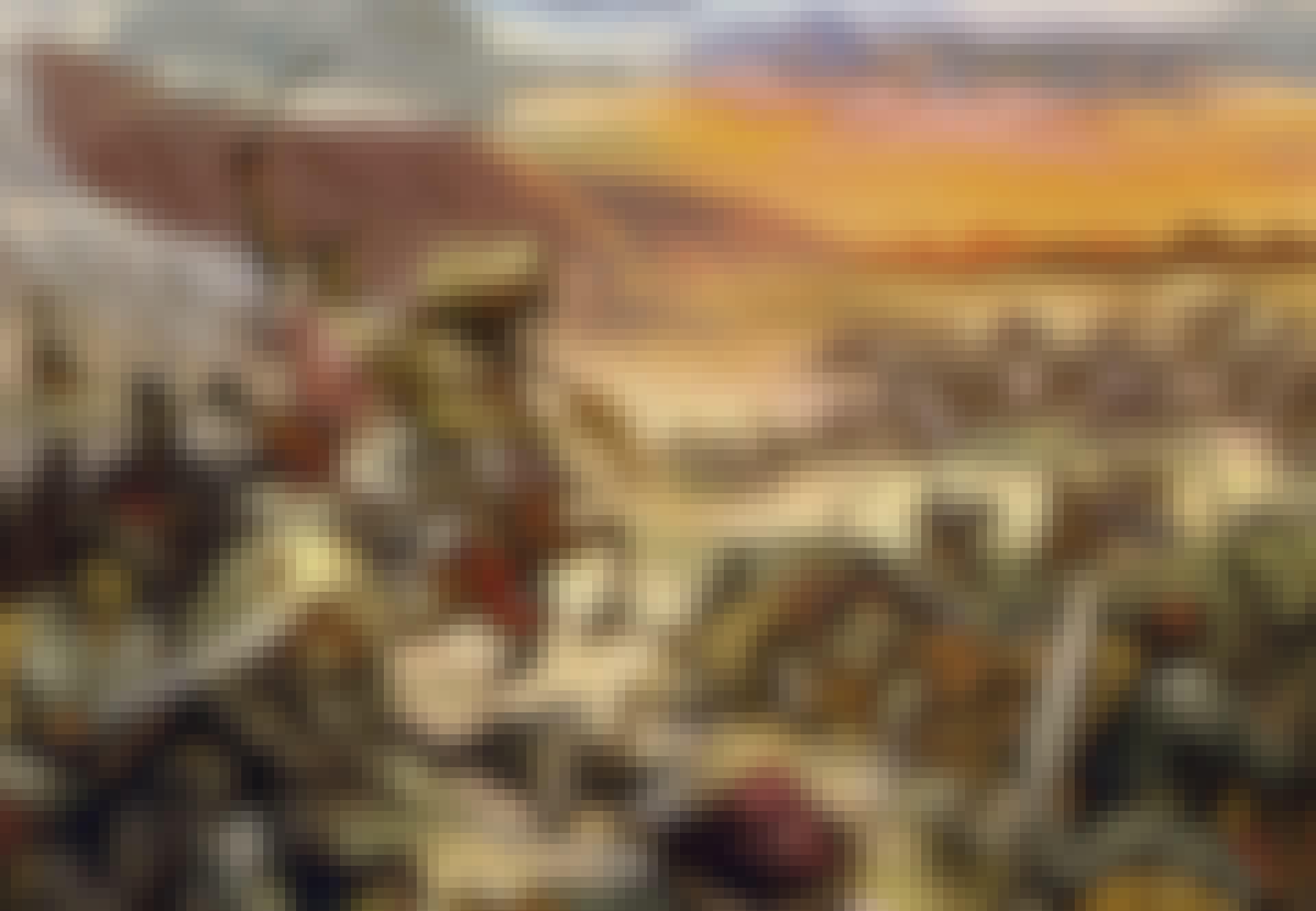 Efter tjugo år blev Temüjin khan över alla khaner (färglitografi)