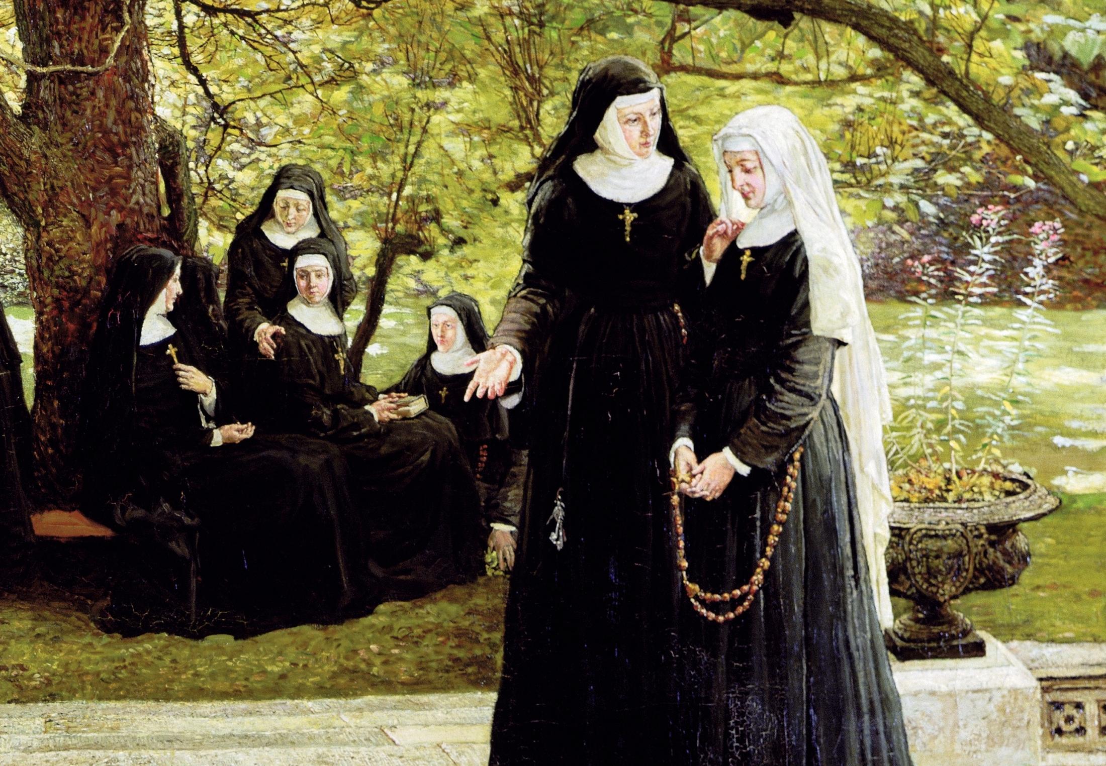 Geile lesbische nonnen