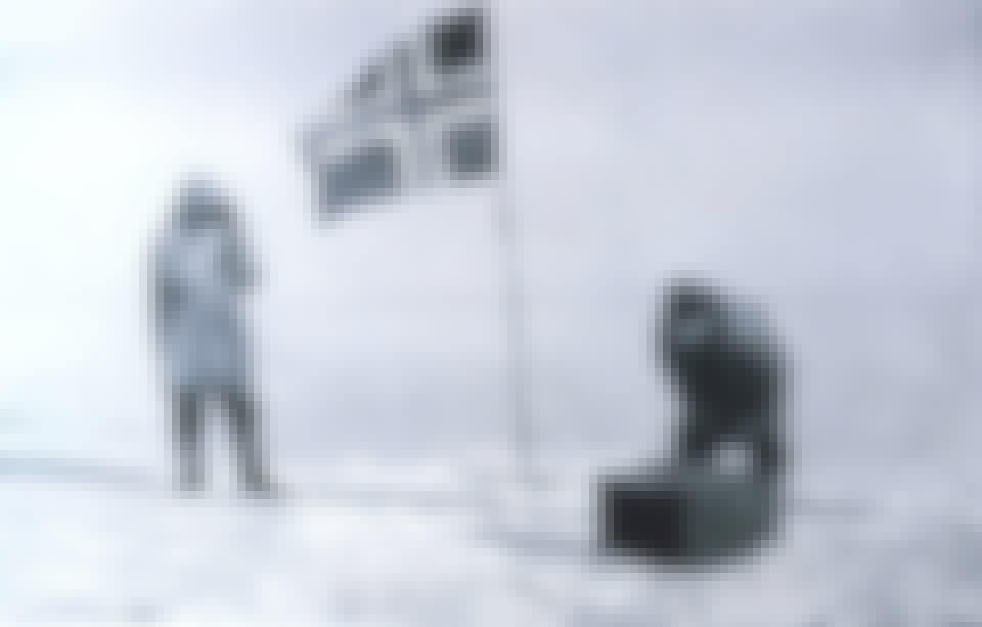 Opdagelsesrejsende Roald Amundsen på Sydpolen