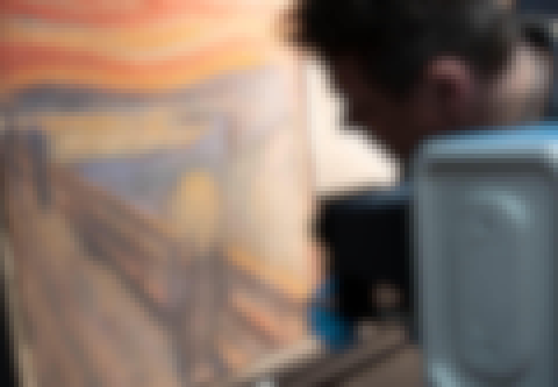 Maleriet Skribet blev belyst med infrarødt lys