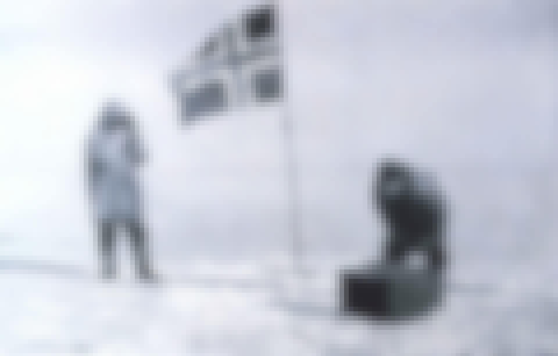Upptäcktsresande Roald Amundsen på Sydpolen