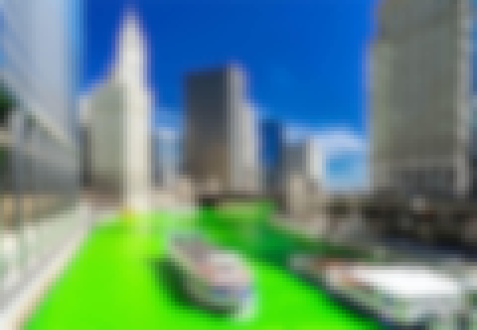 Chicagoelven farges grønn på St. Patricks dag