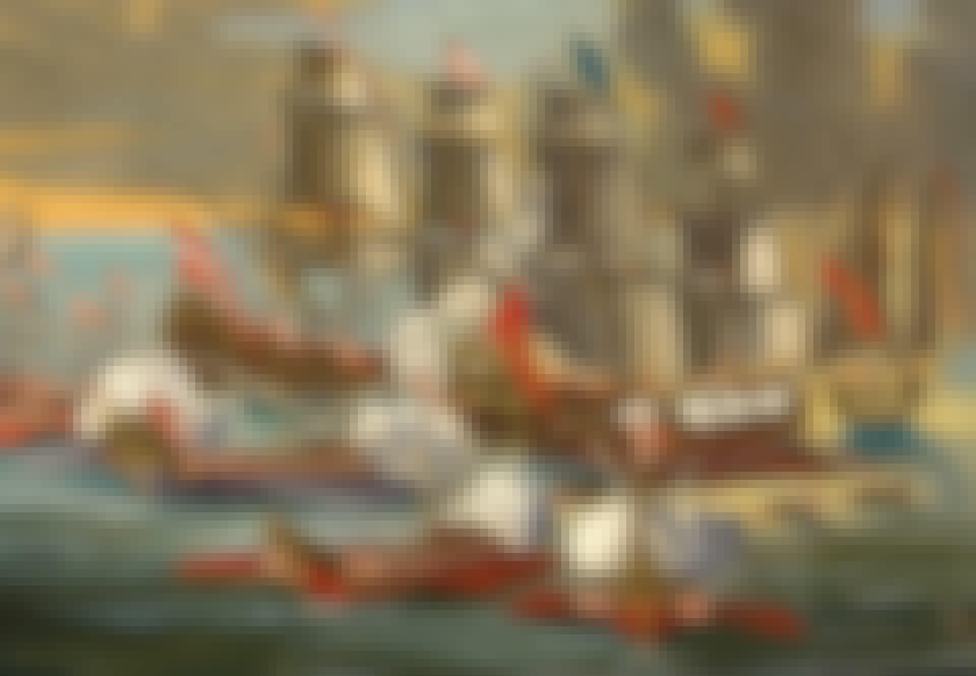 Pirater fra Malta angriper osmansk skip.