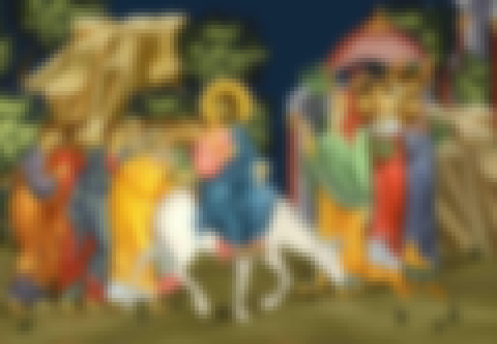 Fresk av Jesu intåg i Jerusalem på en åsna