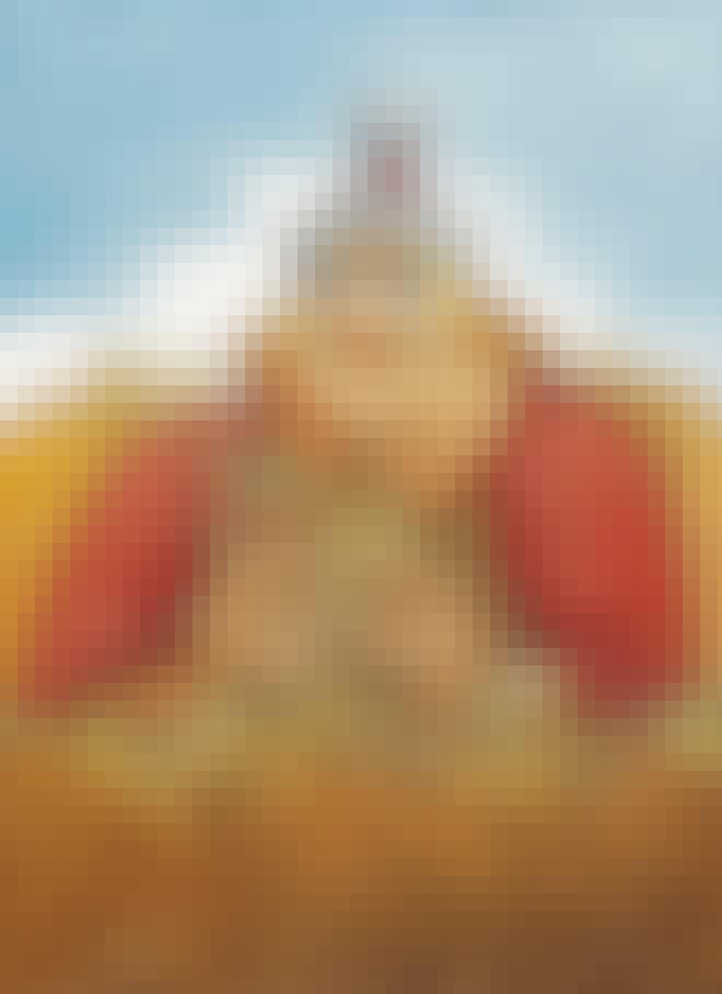 Teckning av den nordiske guden Frej