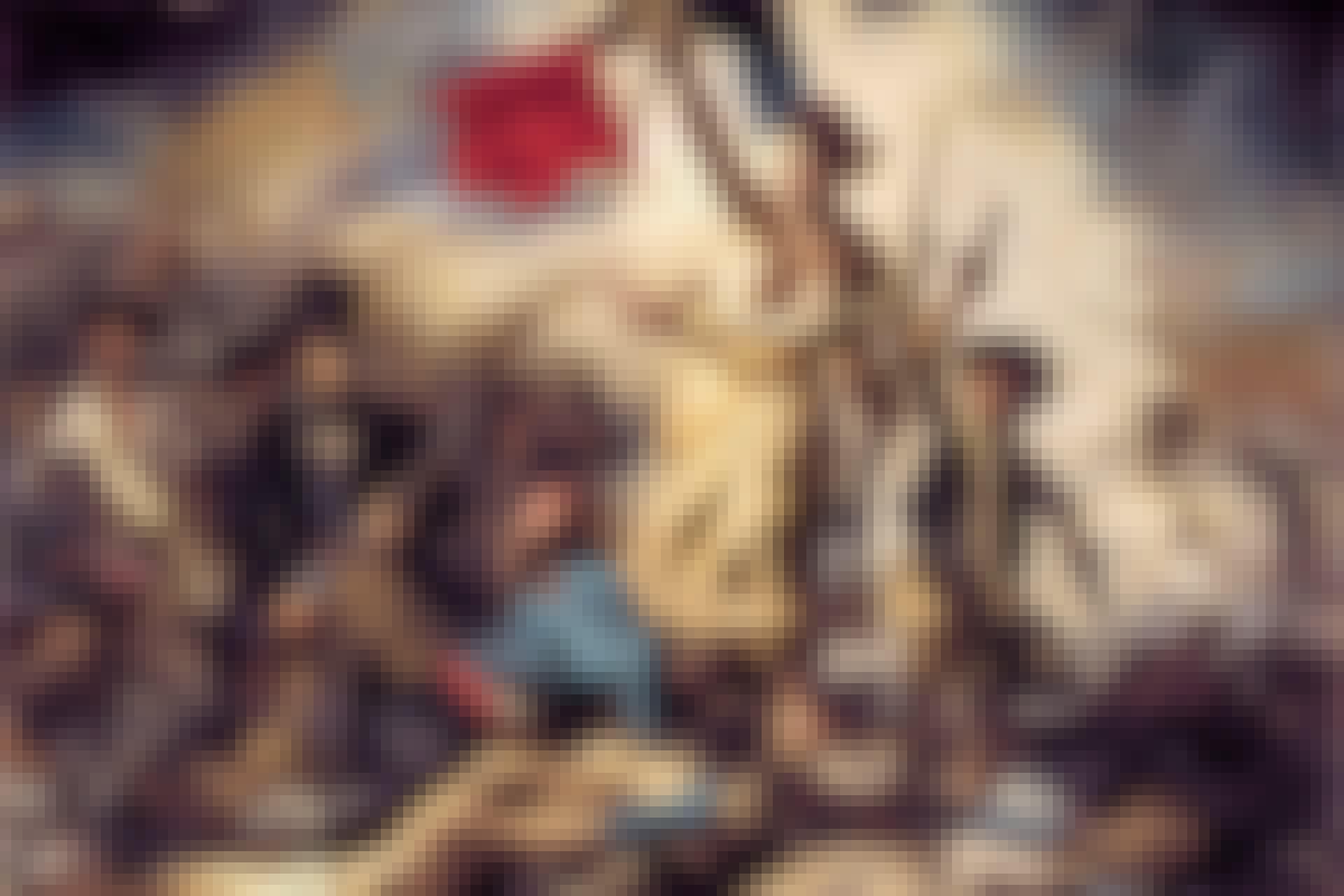 Maleri af kvinde og den franske revolution