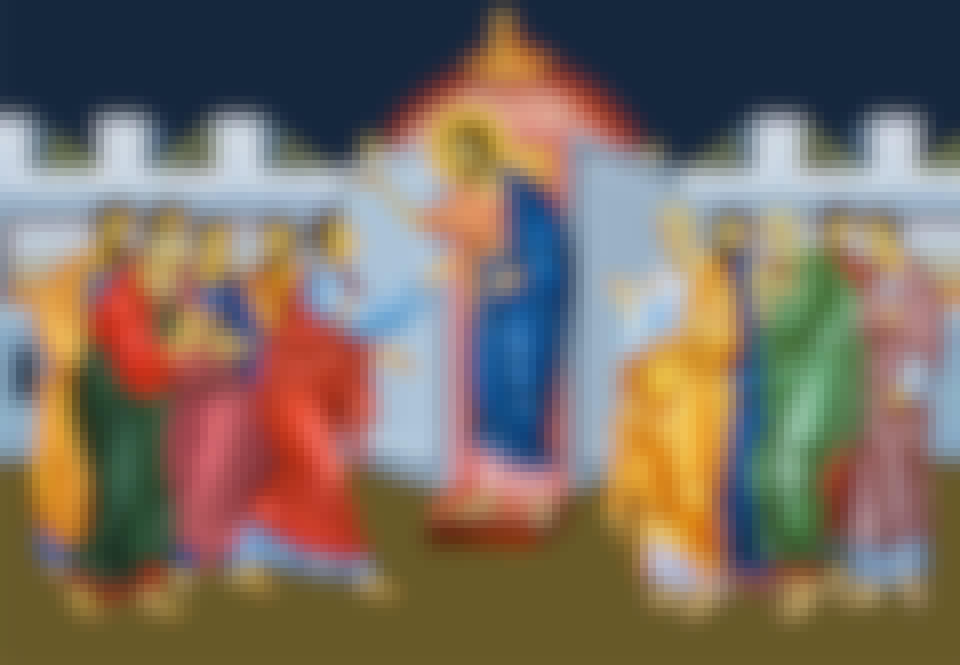 Fresco van de hemelvaart van Christus