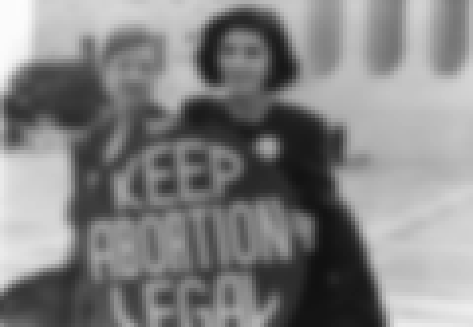Norma McCorvey demonstrerar för fria aborter utanför USA:s högsta domstol.