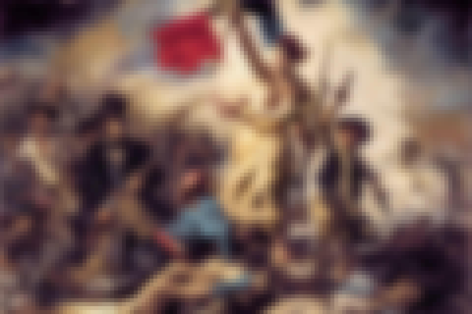 Maleri av kvinne og den franske revolusjon
