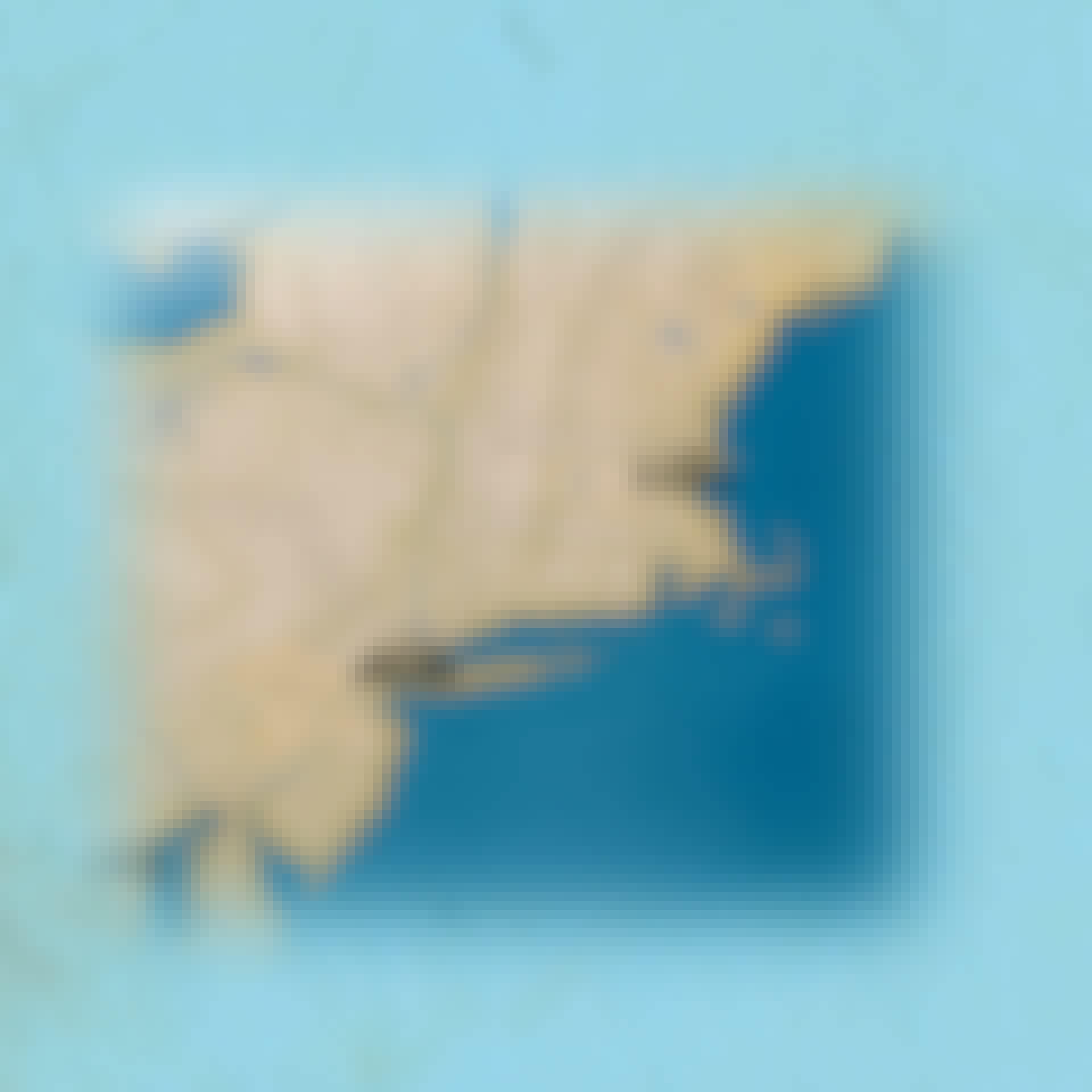 Kort over American Airlines Flight 11s rute mod nordtårnet