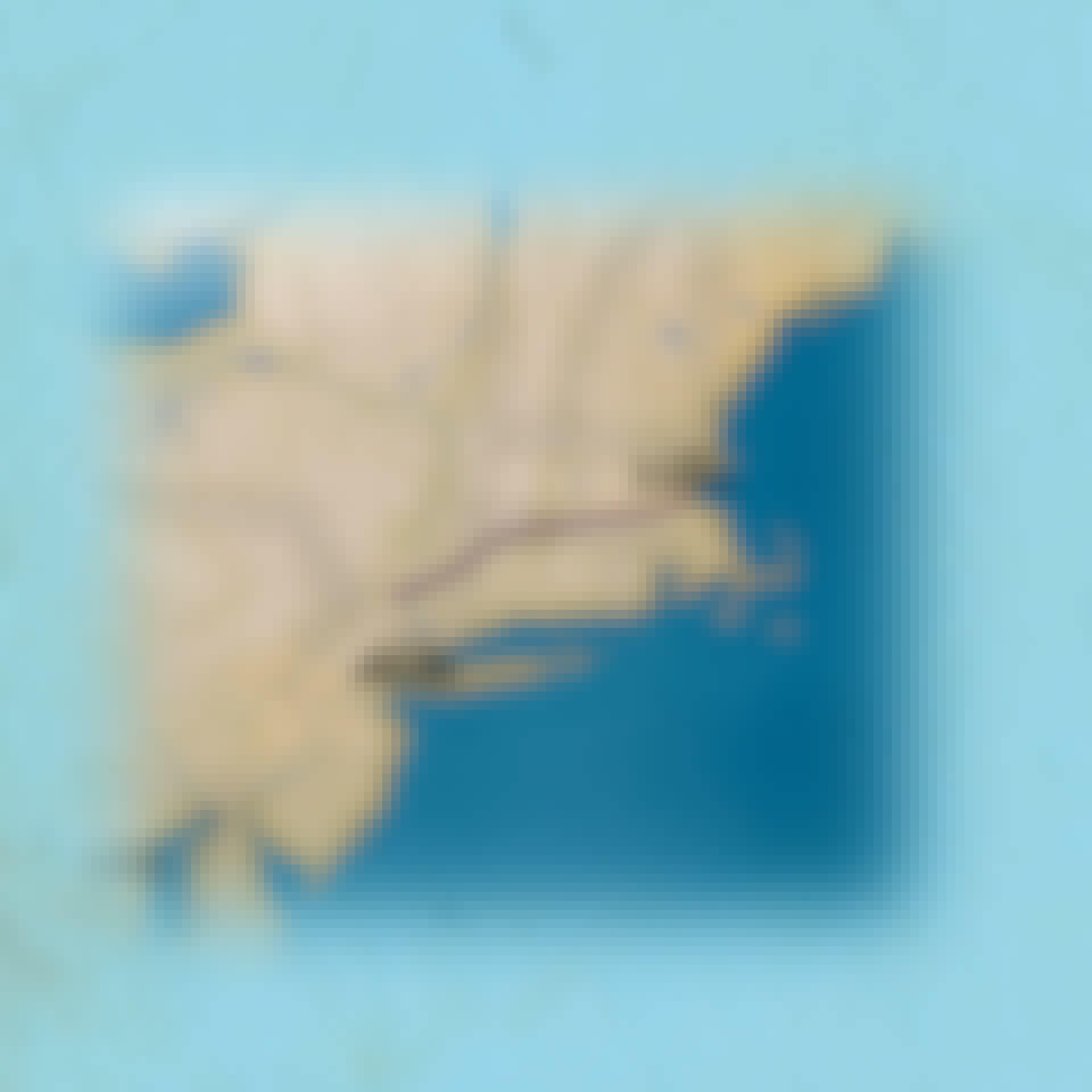 Kort over Flight 175s rute mod sydtårnet