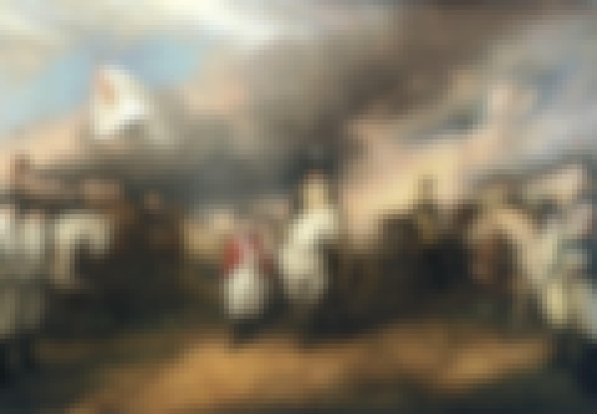 Britterna kapitulerar för amerikanerna.