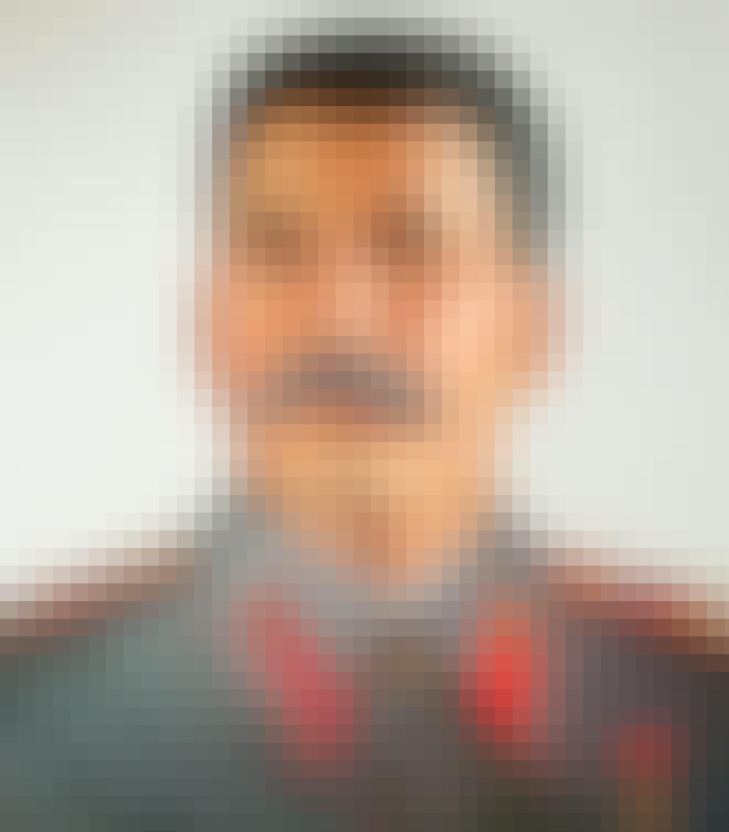 Portrett av Josef Stalin på Stalin-museet i Batumi, Georgia