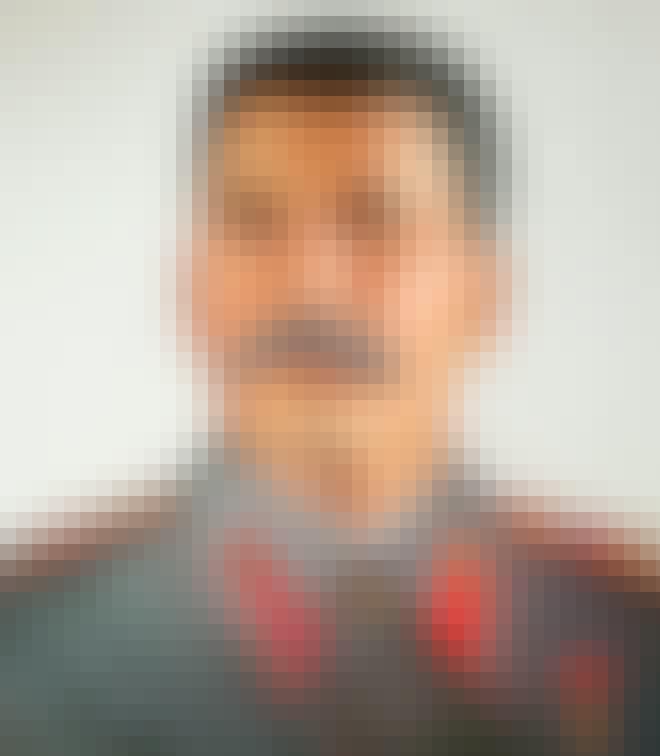 Porträtt av Josef Stalin på Stalinmuseet i Batumi, Georgien