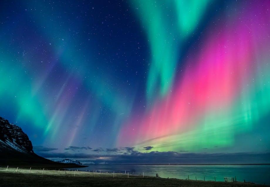Nordlys farver