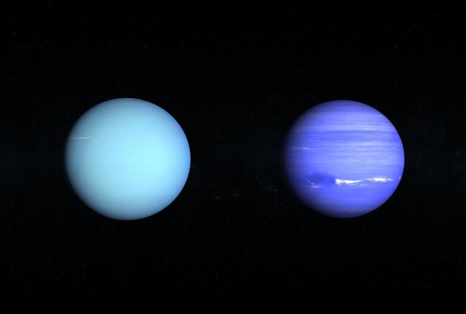 Neptun og Uranus