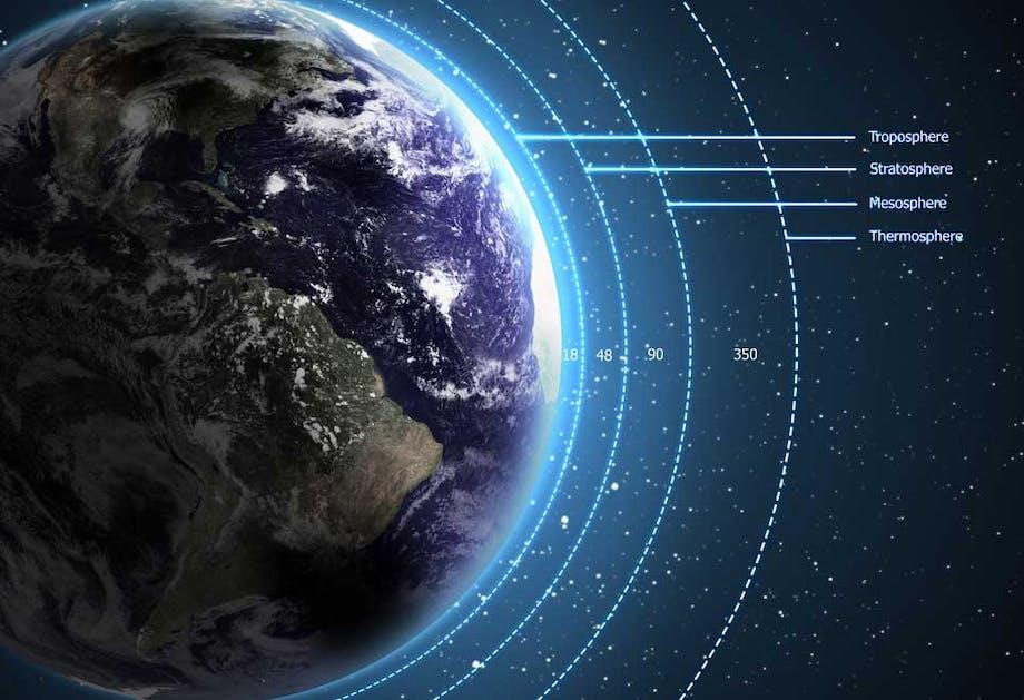 De atmosfeer van de aarde – waar bestaat hij uit?
