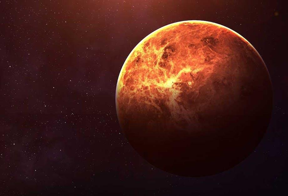 De atmosfeer van Venus