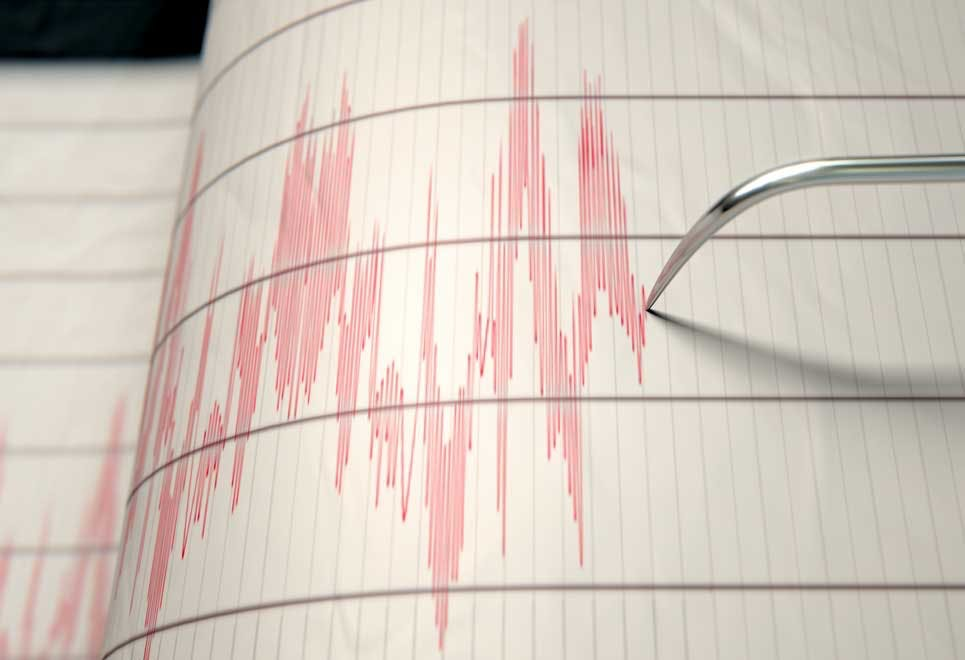 Richterskalan under jordskalv