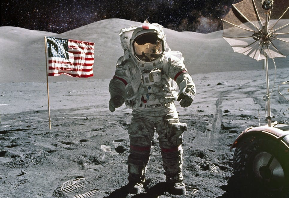 Första människans på månen