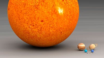 Hoe groot is de zon?