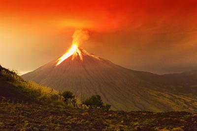 Kerrostulivuori Etelä-Amerikassa