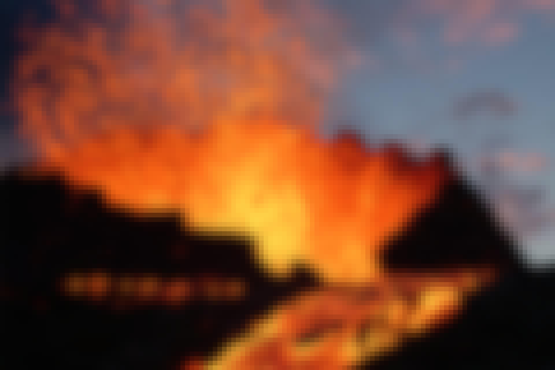 Vulkanen stromen over