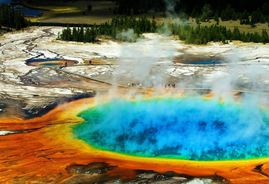 De vulkaan Yellowstone