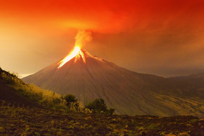 Stratovulkan i Sydamerika