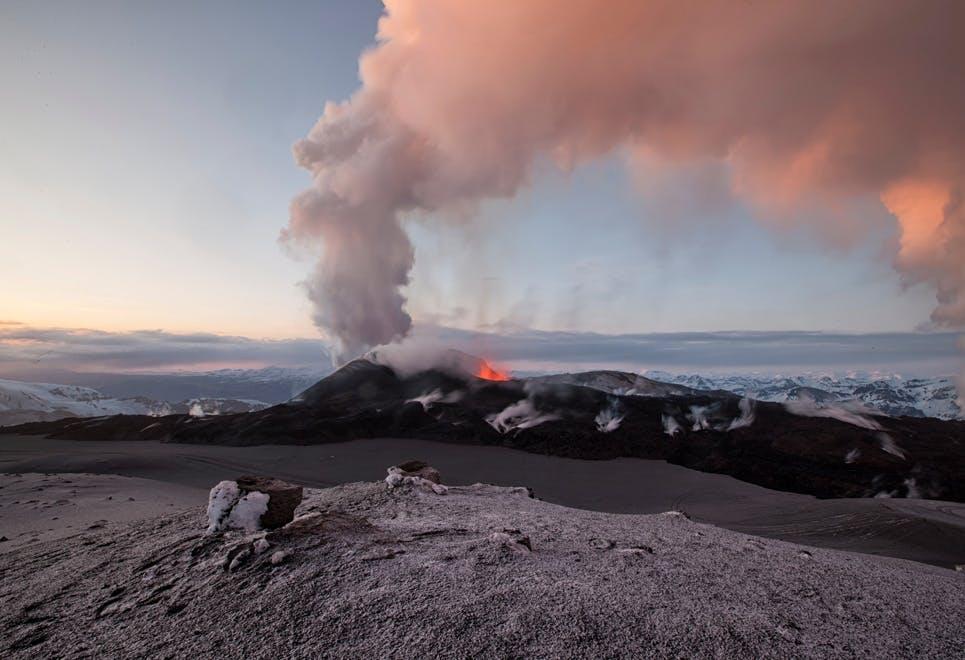 Vulkanudbrud Island