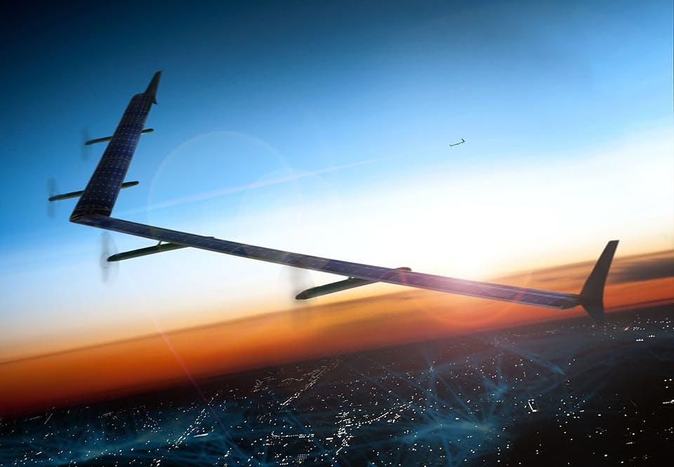 Facebooks Aquiladrone voor wifinetwerken op laserbasis