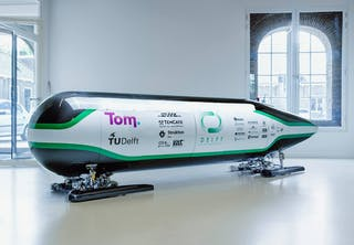 De Delftse Hyperloop-cabine