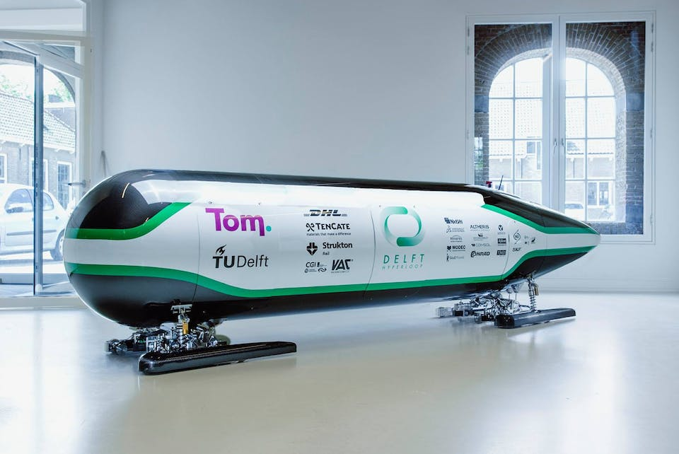 De Delftse Hyperloop-cabine