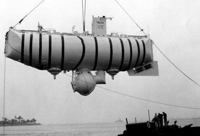 De Italiaanse onderzeeër Trieste.
