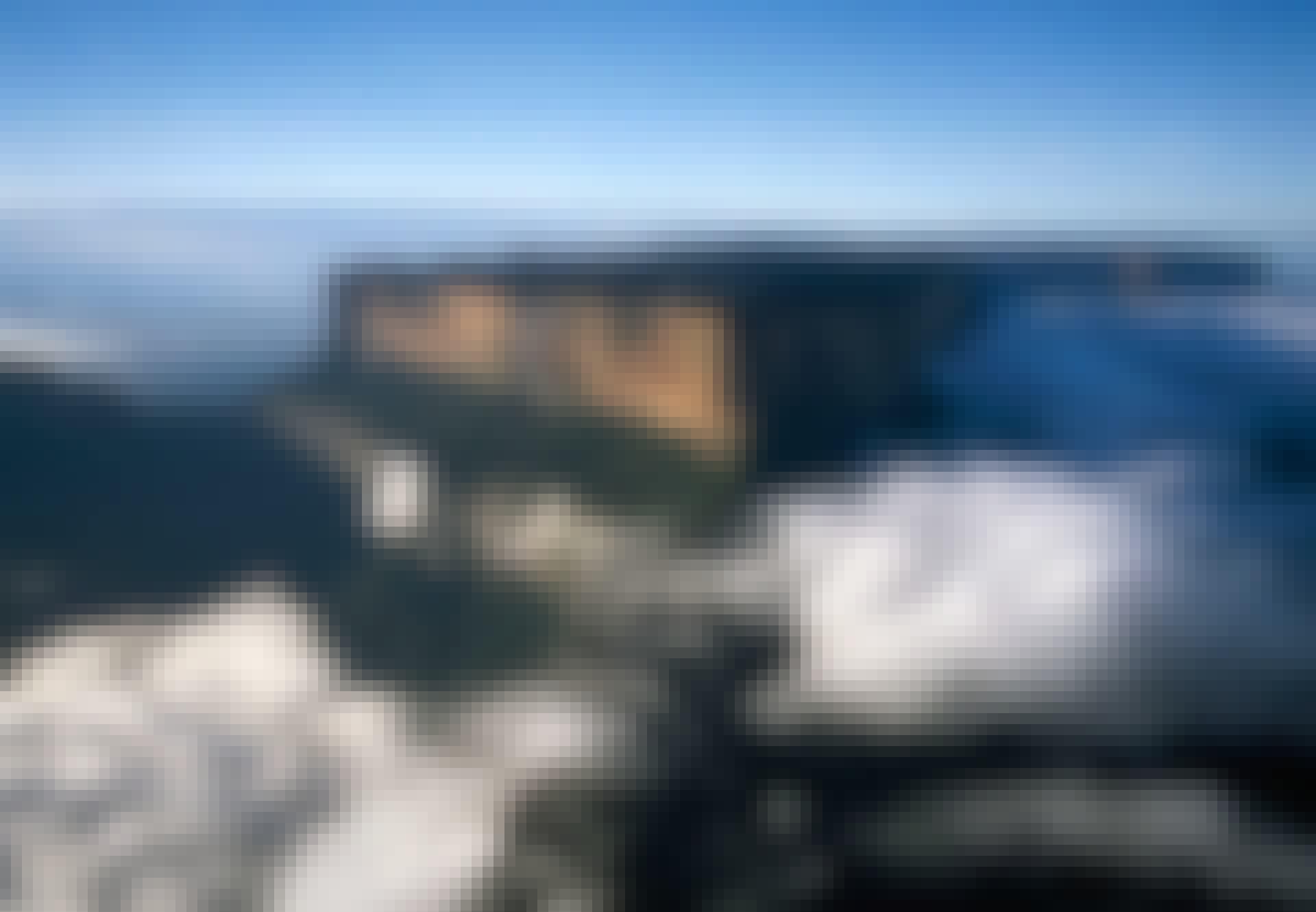 De vlakke top van Mount Roraima