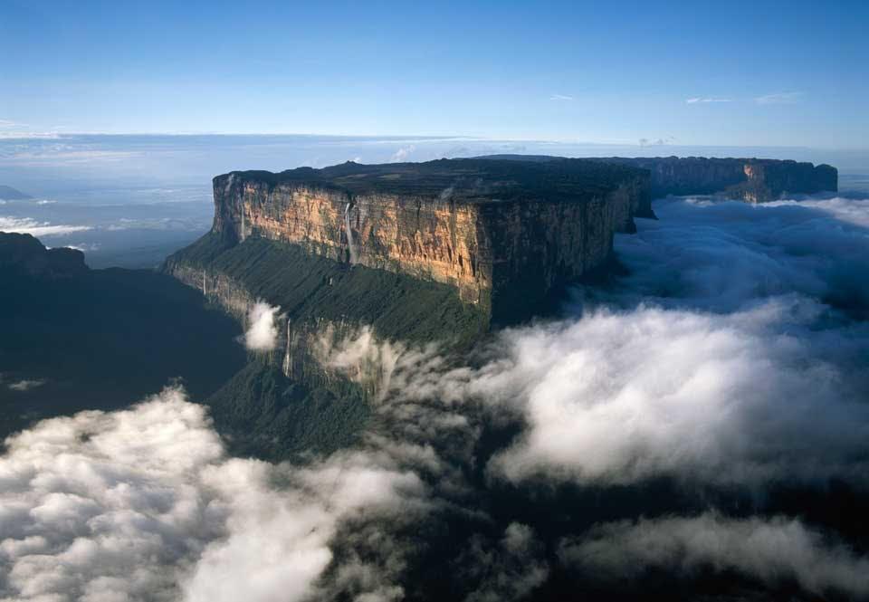 Mount Roraimas flacka bergstopp
