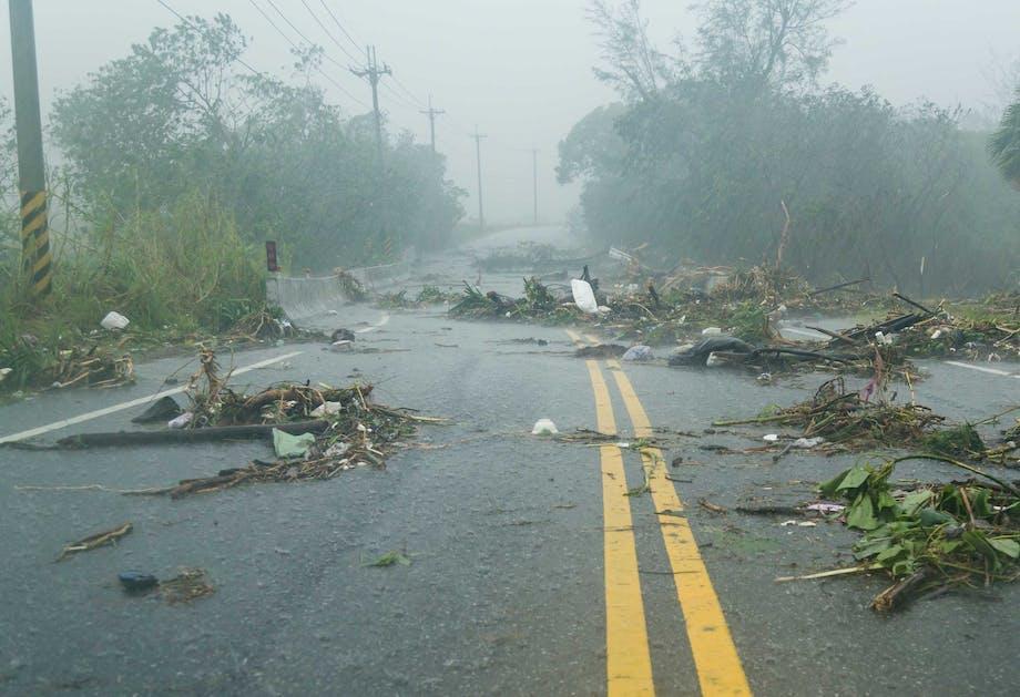 Verwoestingen na een storm