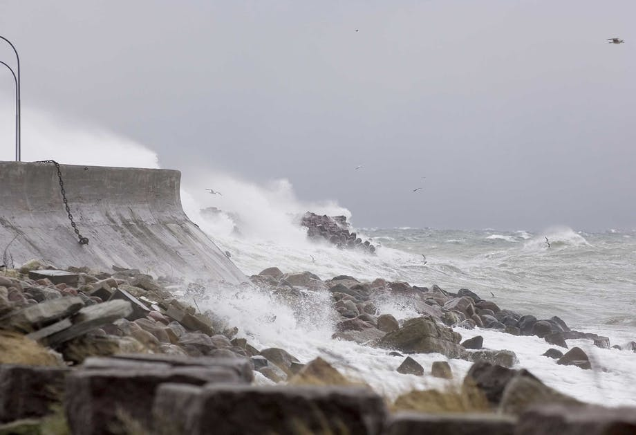 De schaal van Beaufort meet de stormkracht