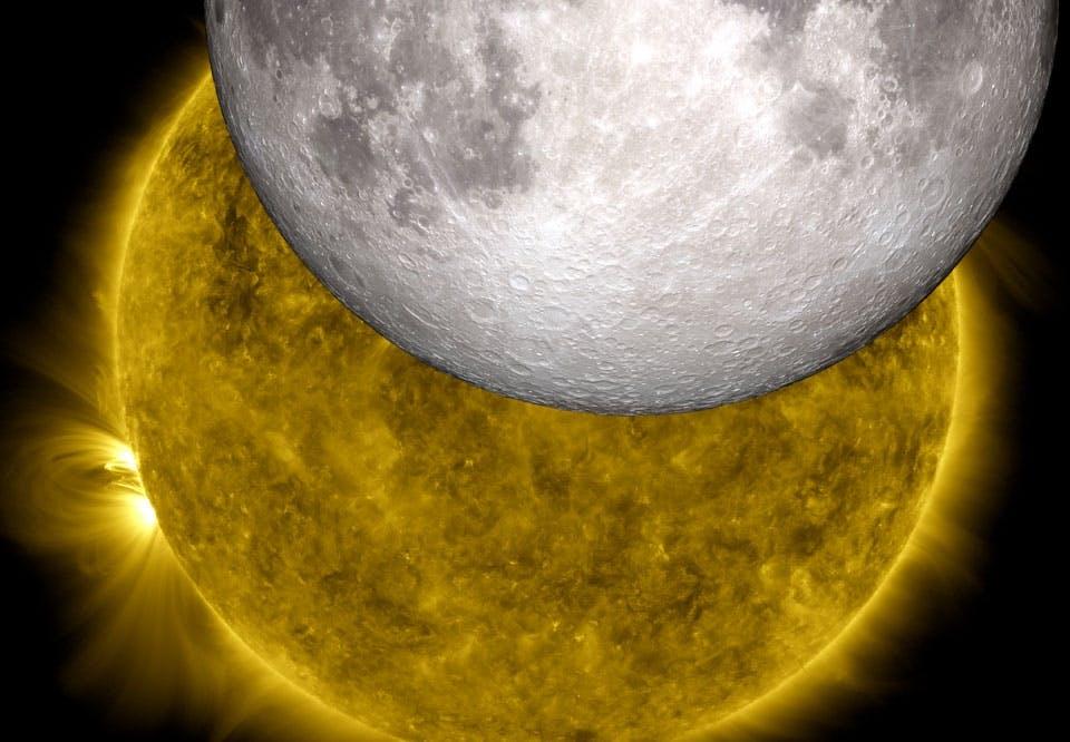 Fakta om solförmörkelser - sol och måne