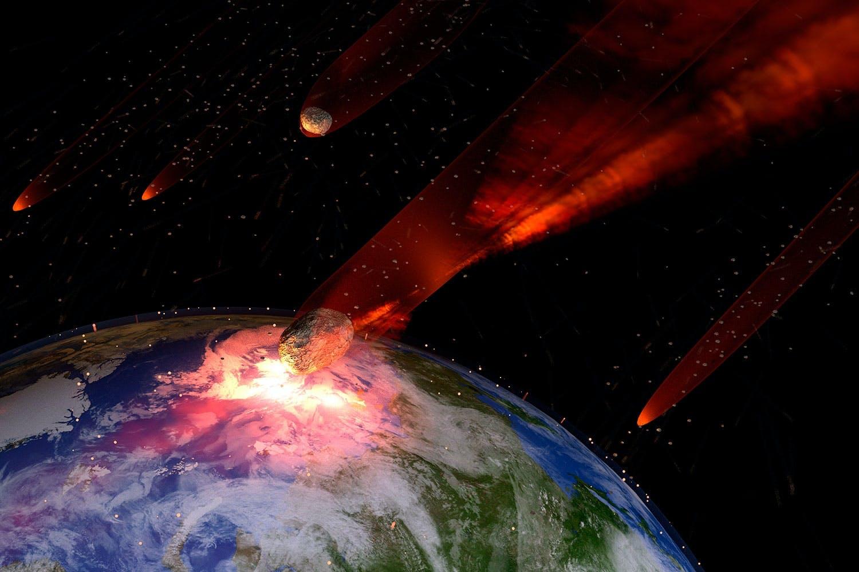 Tuhoa Maa meteoriitilla
