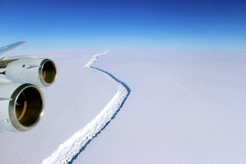 Larsen C iceshelf NASA