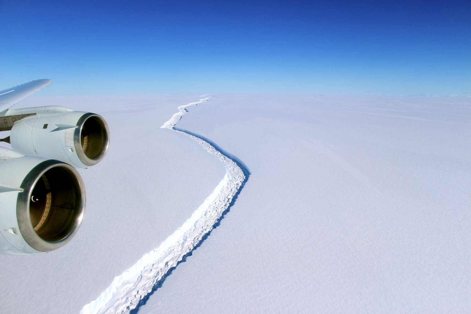 Larsen C iceshelf NASA