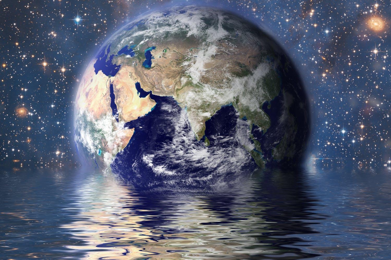 Vulkaan water naar aarde