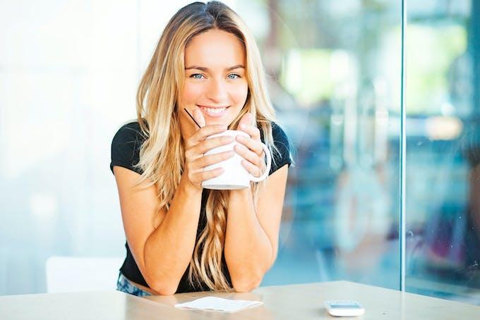 Kaffe perfekt kop