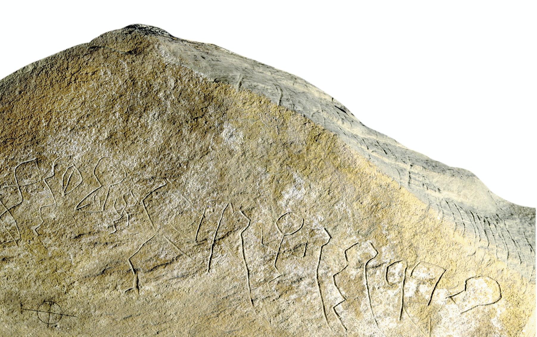 Egyptiska skrivtecken på kalksten - föregångare till alfabetet