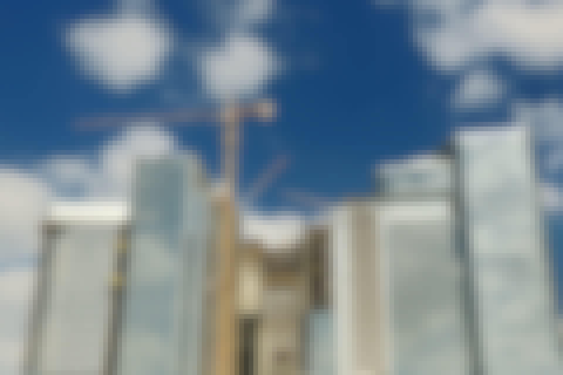 byggekran, højhuse, byninger